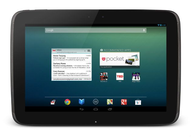 Google presenta su nuevo tablet Nexus 10 y actualiza Nexus 7 30