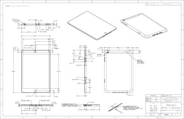 Disponibles los planos de diseño de iPad 4 y iPad mini 30