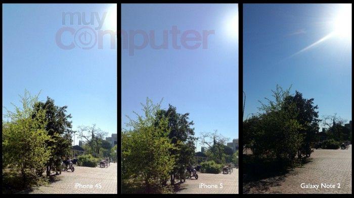 Comparamos la calidad de la cámara del iPhone 5 frente a la del iPhone 4S y del Samsung Galaxy Note II