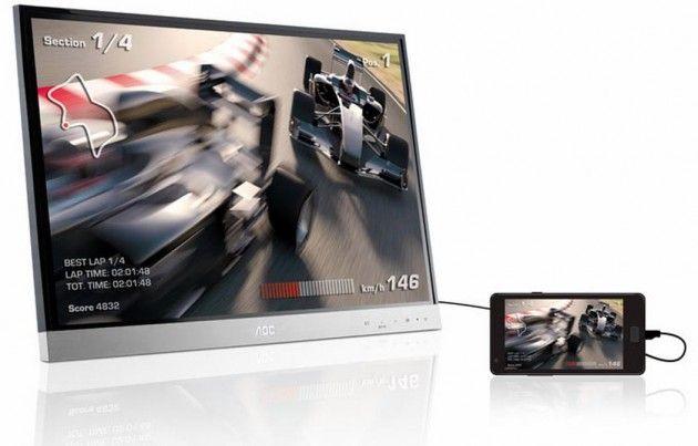 """AOC myPlay 27"""", monitor con conectividad MHL 27"""