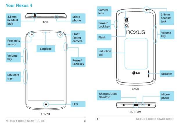 nexus4 manual Primeras imágenes del smartphone Nexus 4