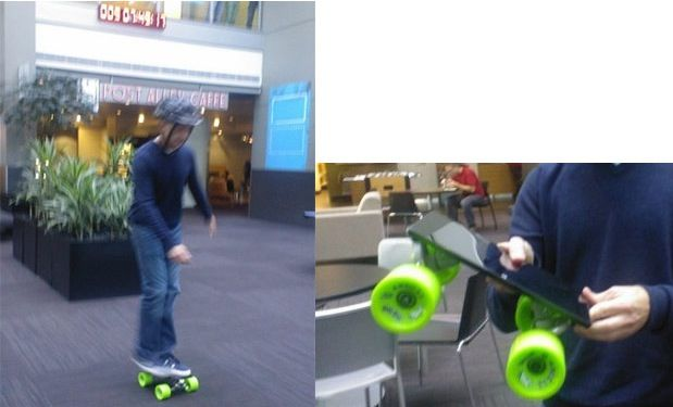 Microsoft Surface reconvertido en skateboard 28