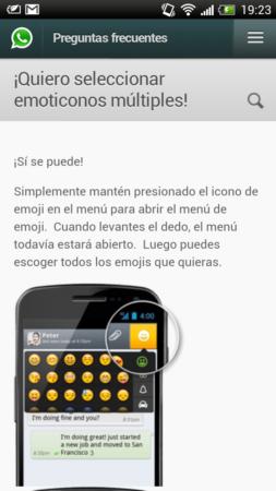 Manda múltiples emoticonos de una tacada en WhatsApp 29