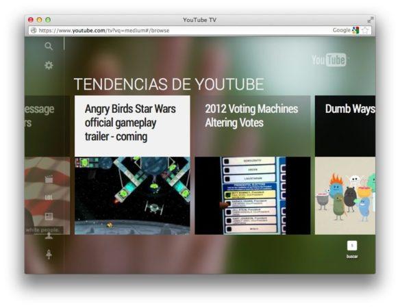 Nueva interfaz de YouTube enfocada a TVs 32
