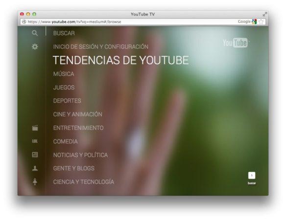 Nueva interfaz de YouTube enfocada a TVs 33