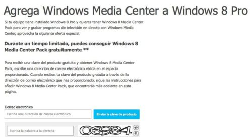 Microsoft ofrece gratis Media Center Pack para Windows 8 Pro 30