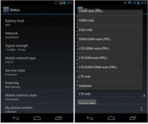 Activar LTE en Nexus 4