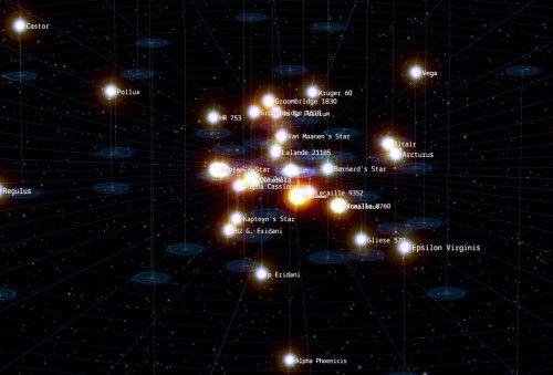 Estrellas google 500x339 Explora la galaxia con Google Chrome y la potencia de HTML5 y WebGL
