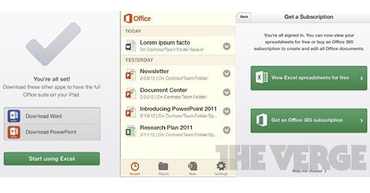 Microsoft Office Mobile para iOS y Android, revelado 27
