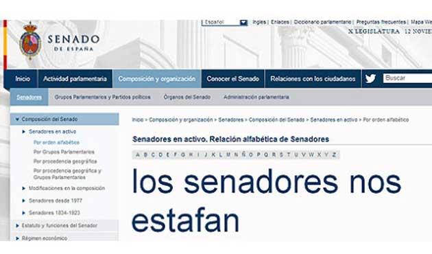 Desastroso estreno del caro portal web del Senado español