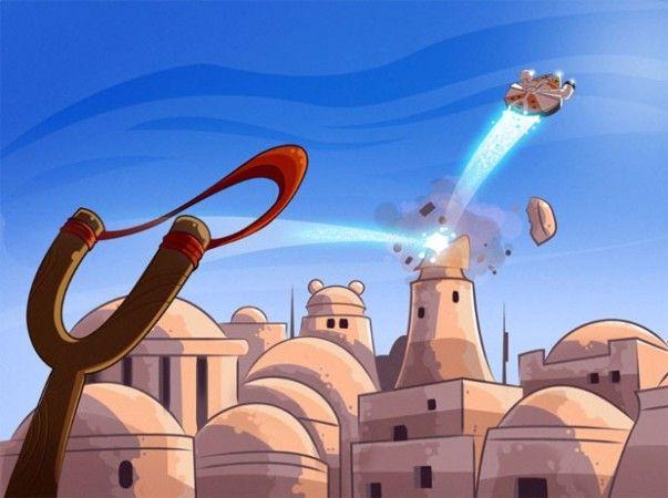 Que la fuerza acompañe a los Angry Birds