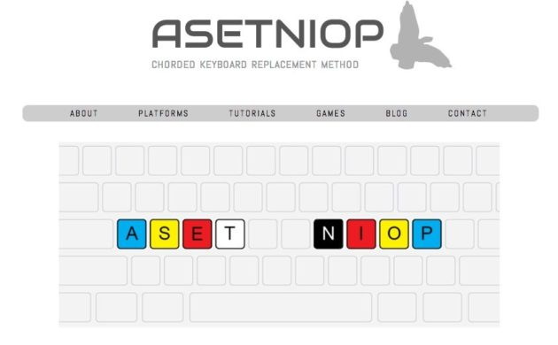 ASETNIOP a different virtual keyboard for tablets