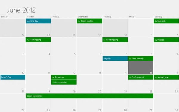 Sincroniza varios calendarios Google en Windows 8 30