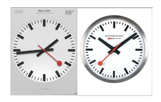 Apple pagará 21 millones de dólares por utilizar el diseño del reloj que plagió para iOS 6