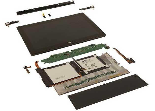 Fabricar el tablet Surface de 32 GB cuesta 271 dólares 29