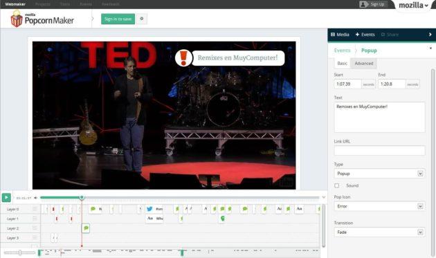 Popcorn Maker 1.0, el editor de vídeo gratuito de Mozilla, disponible 30