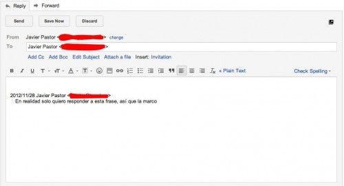 Truco Gmail del mes: responde a un fragmento de un mensaje 31