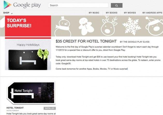 Sorpresas y regalos en Google Play hasta fin de año