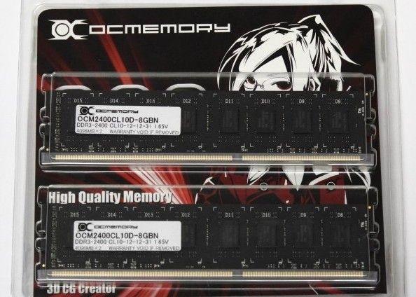 OCMemory comercializa módulos DDR3-2400, frescos sin disipadores 29