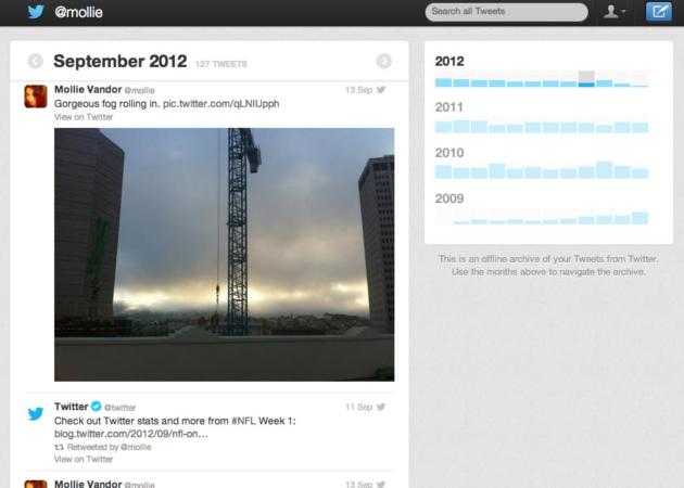 Twitter anuncia oficialmente la descarga del histórico de tweets para todos los usuarios 28
