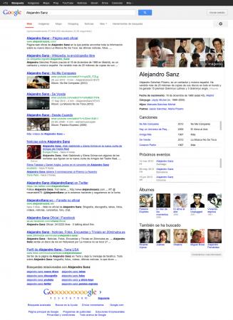 Google ya ofrece sus gráficos de conocimiento en español 31