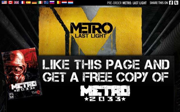 [CHOLLO] Juego METRO 2033 para PC TOTALMENTE GRATIS!! CORRE!!