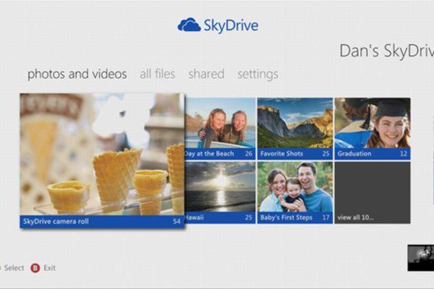 SkyDrive llega a la Xbox
