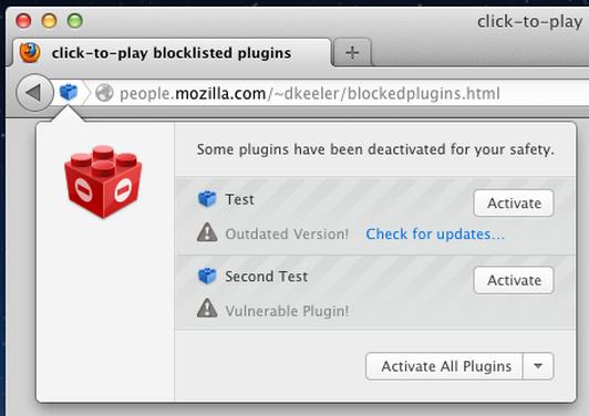 Firefox bloqueará por defecto Java, Reader o Silverlight 27