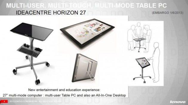 Lenovo presenta tablet de 27 pulgadas IdeaCentre Horizon 30