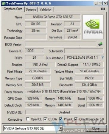 NVIDIA prepara la GPU GeForce GTX 660 SE 30