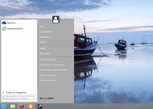 sm8StartMenu8, otro menú de inicio para Windows 8