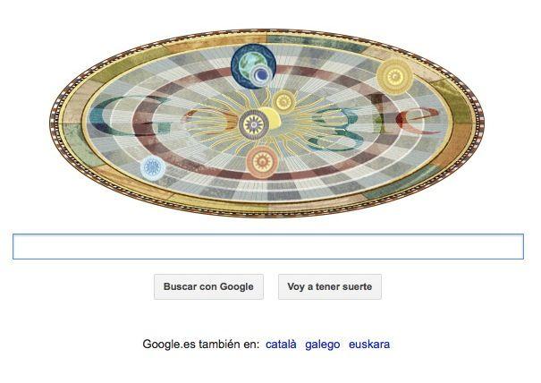 Google homenajea a Copérnico con su nuevo Doodle animado