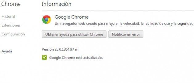 Disponible Google Chrome 25 30