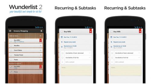 Wunderlist 500x279 Entre Android y el PC: 5 apps para gestionar tareas