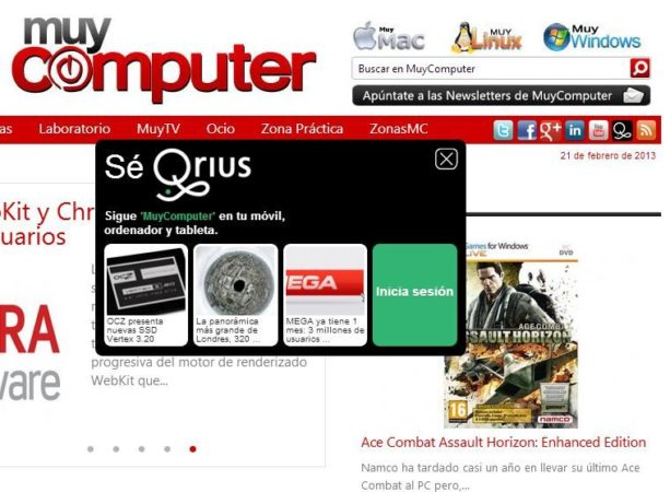 Qrius en MuyComputer