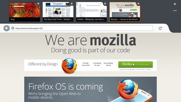Firefox con interfaz Metro / Modern UI en fase de prueba