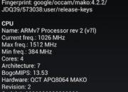 Google Nexus 4 133