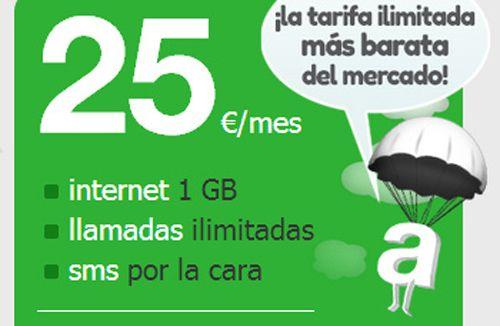 Amena rebaja su tarifa plana ilimitada, todo por 25 euros al mess 33