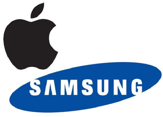 Logos Apple y Samsung