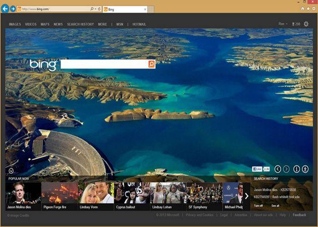 Microsoft testea nuevo diseño para la página de inicio de Bing