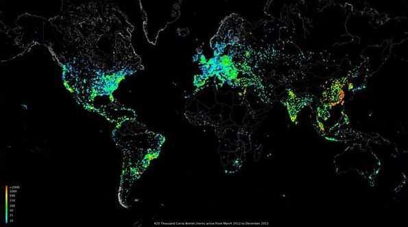 Investigador hackea 420.000 dispositivos para crear el mayor mapa de Internet de la historia