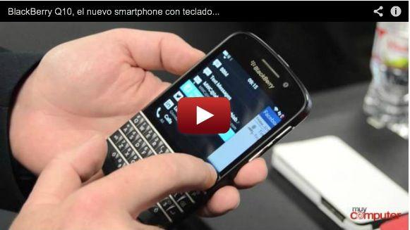 BlackBerry Q10, el nuevo smartphone con teclado QWERTY