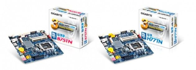 GIGABYTE lanza su línea de placas Thin Mini-ITX H77TN y B75TN