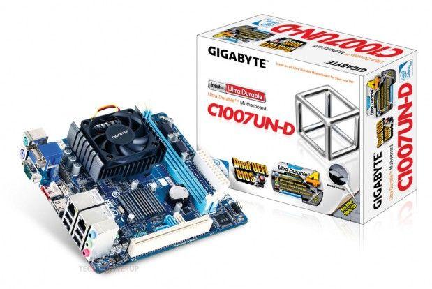 GIGABYTE presenta una placa con CPU integrada