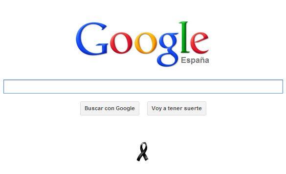 Crespón negro Google en memoria de las víctimas del 11-M 30