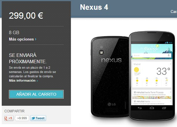 Nexus 4 por fin disponible ¿Nexus 5 por 99 dólares? 29