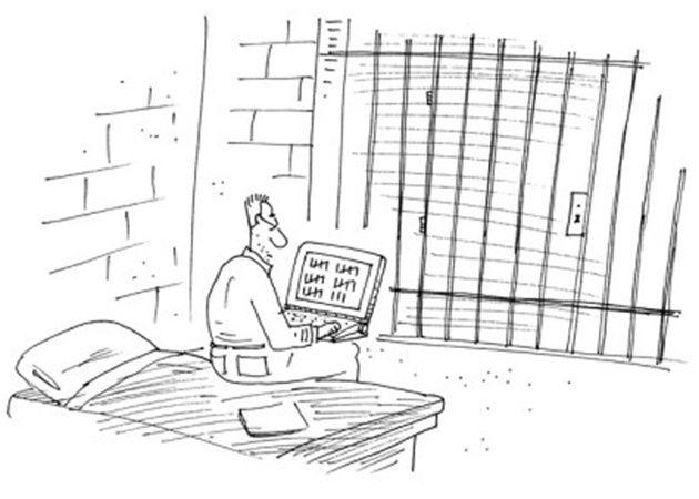 Encarcelado por pirateo informático, hackea la red de la prisión