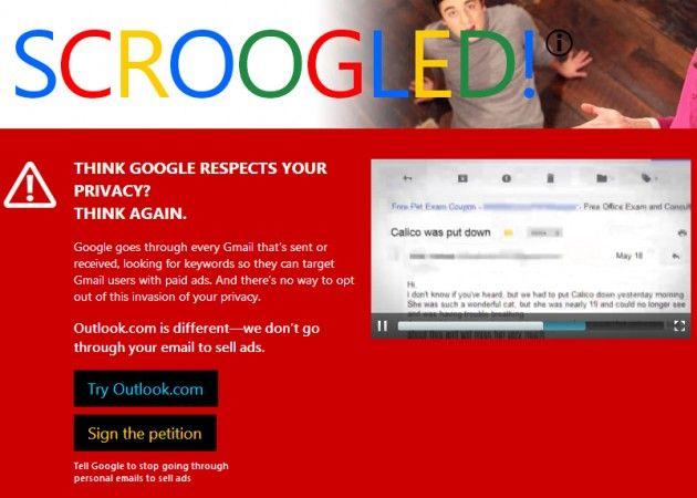 Google a Microsoft: céntrate en mejorar tus servicios