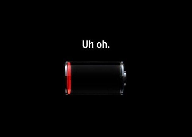 iPhone batería vacía