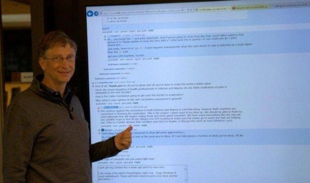 ¿Cómo se monta el tablet de 82 pulgadas que usó Bill Gates?